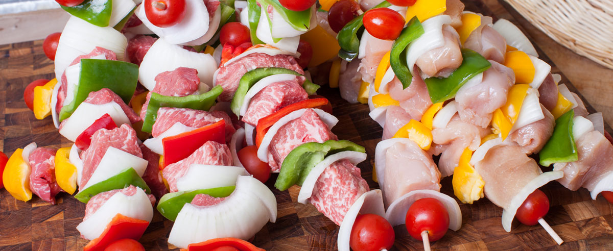 Assorted Meat & Vegetable Kebabs