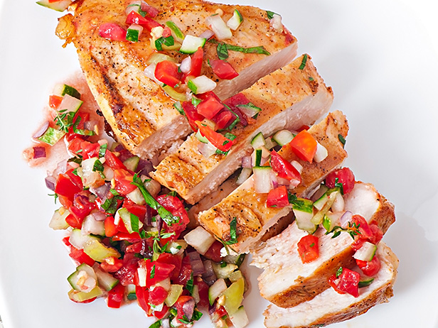 Chile Rubbed Grilled Chicken with Salsa Recipe