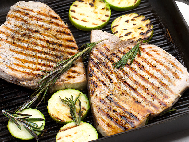 Grilled Swordfish with Lemon, Mint & Basil Recipe